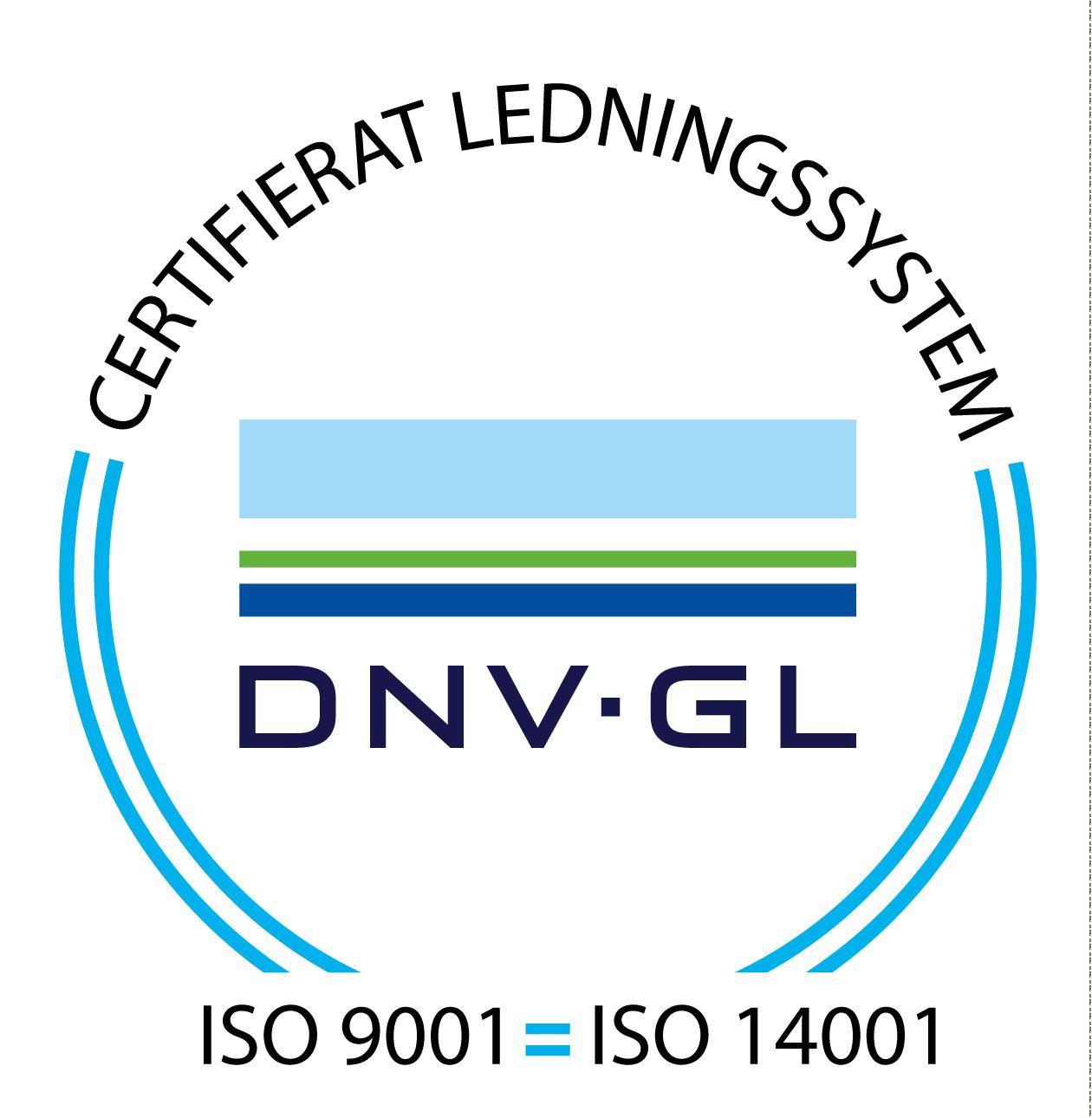 Certifieringsmärke ISO9001 ISO14001
