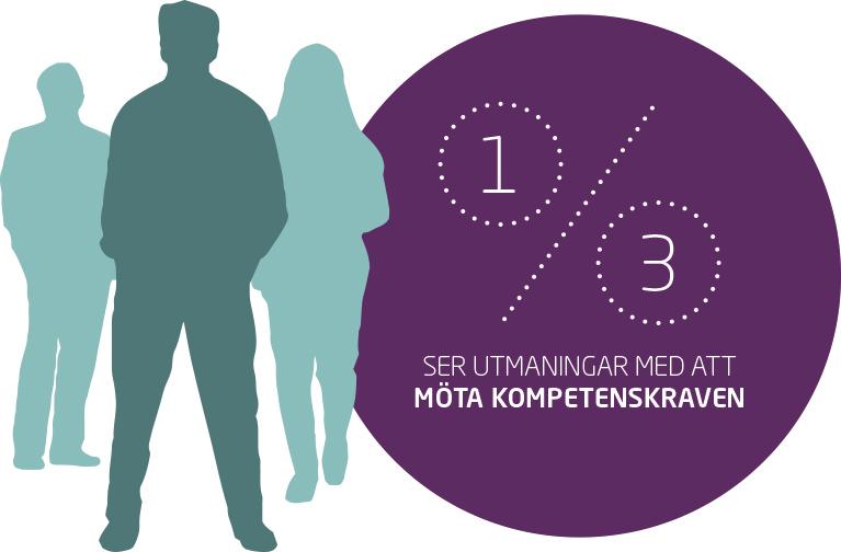 Bildgrafik: 1 av 3 ser utmaningar med att möte kompetenskraven